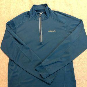PATAGONIA Pullover 1/4 Zip Blue Base Layer